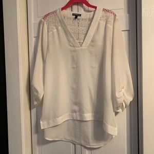 Express Tunic with Lace Shoulder